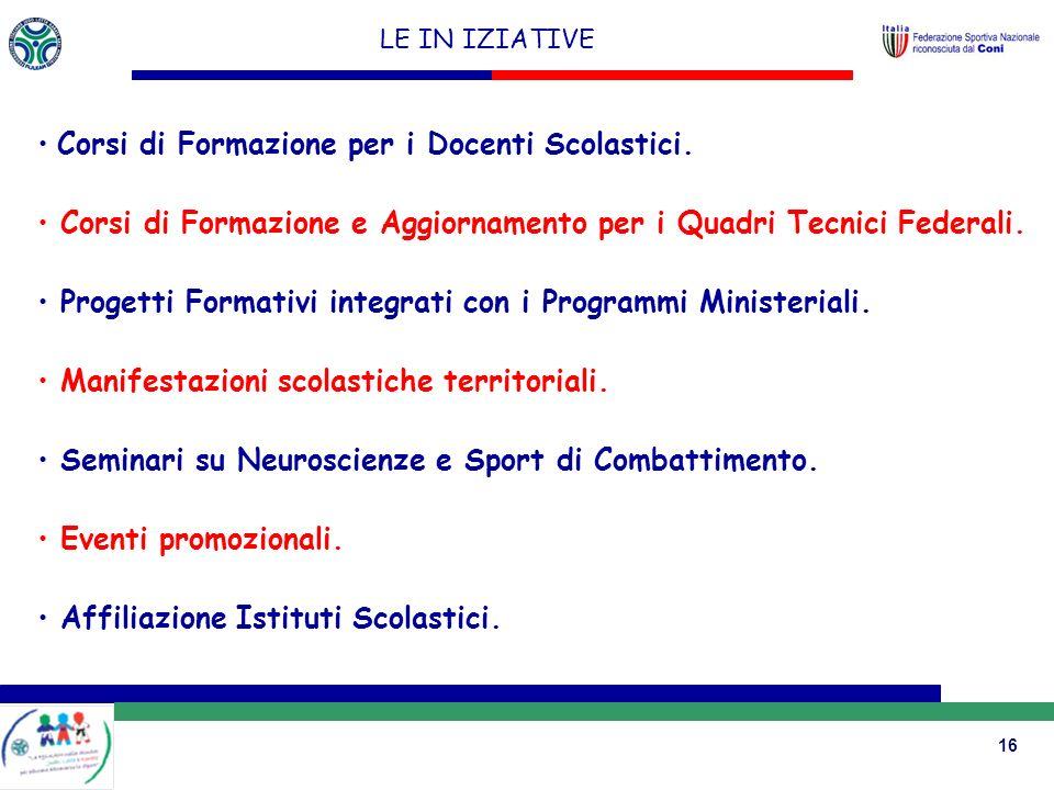 Corsi di Formazione per i Docenti Scolastici.