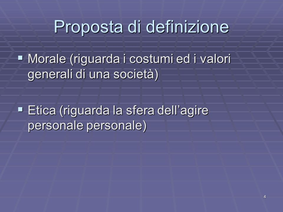 Proposta di definizione