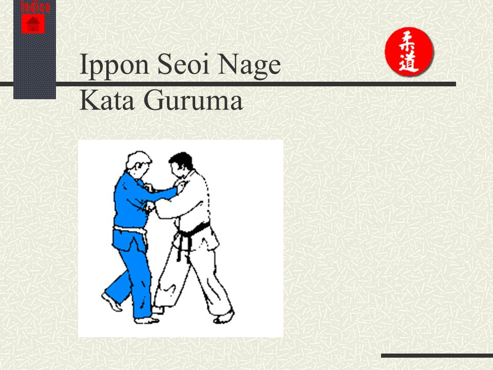 Ippon Seoi Nage Kata Guruma