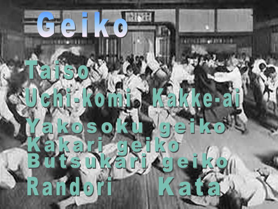 Geiko Taiso Uchi-komi Kakke-ai Yakosoku geiko Kakari geiko