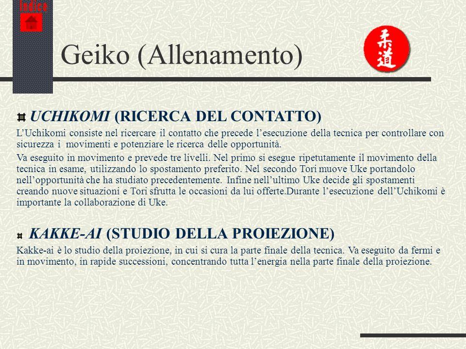 Geiko (Allenamento) UCHIKOMI (RICERCA DEL CONTATTO)
