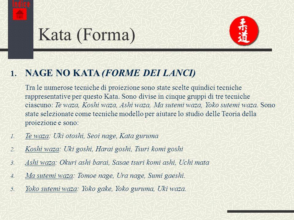 Kata (Forma) NAGE NO KATA (FORME DEI LANCI)