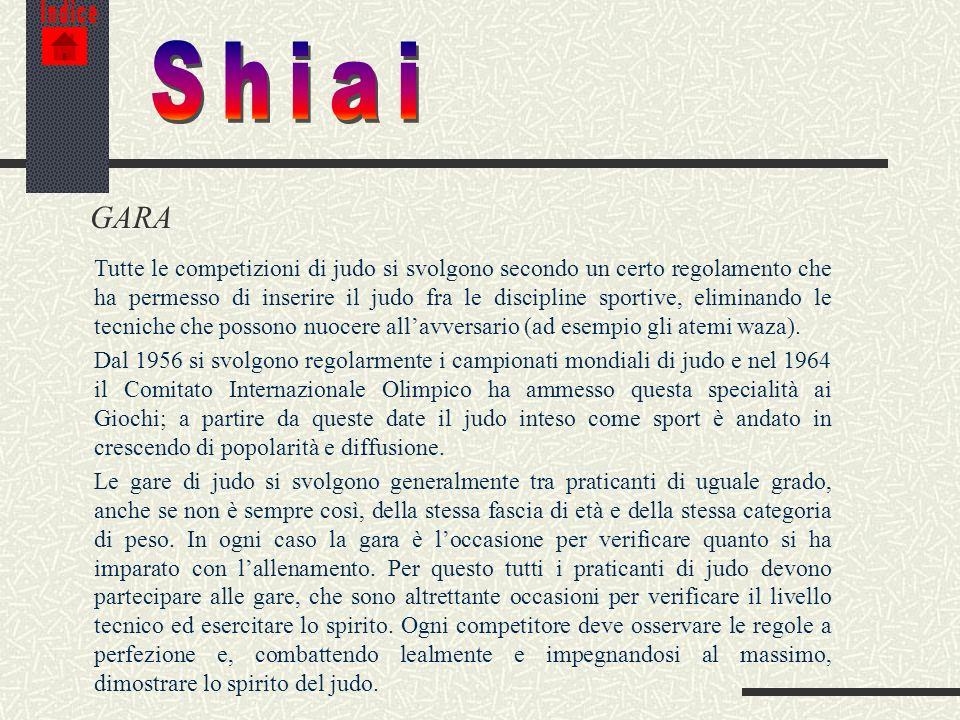 Indice Shiai. GARA.