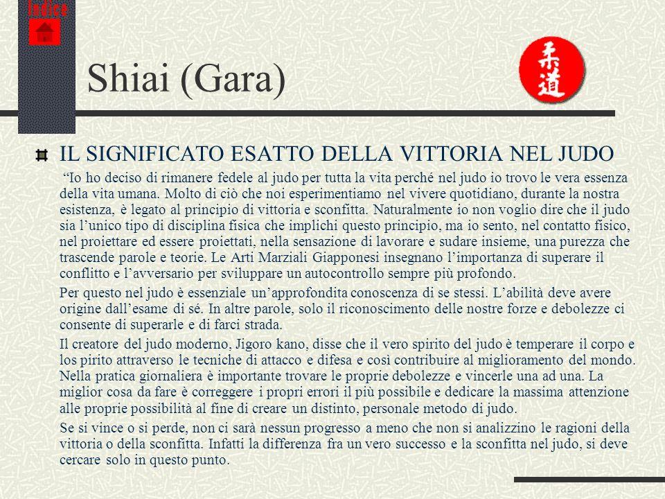 Shiai (Gara) IL SIGNIFICATO ESATTO DELLA VITTORIA NEL JUDO