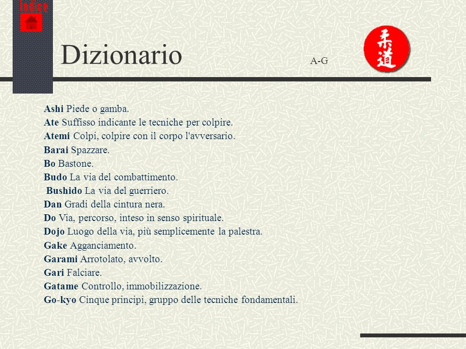 Dizionario A-G Ashi Piede o gamba.