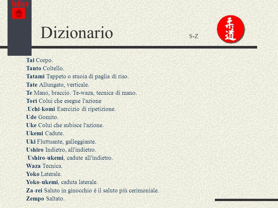 Dizionario S-Z Tai Corpo. Tanto Coltello.