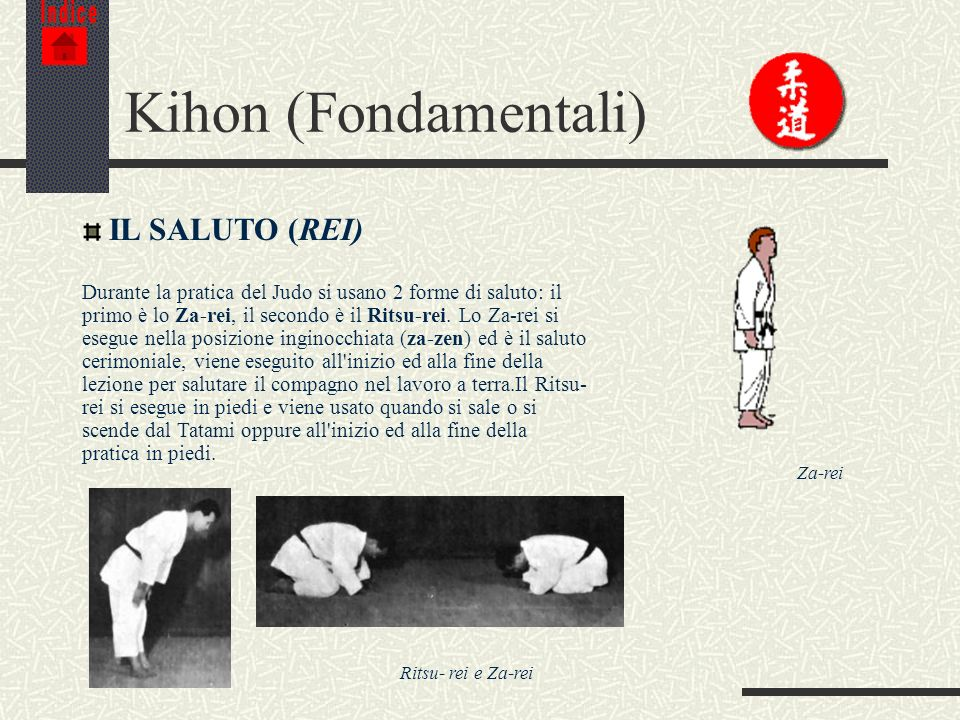 Kihon (Fondamentali) IL SALUTO (REI)
