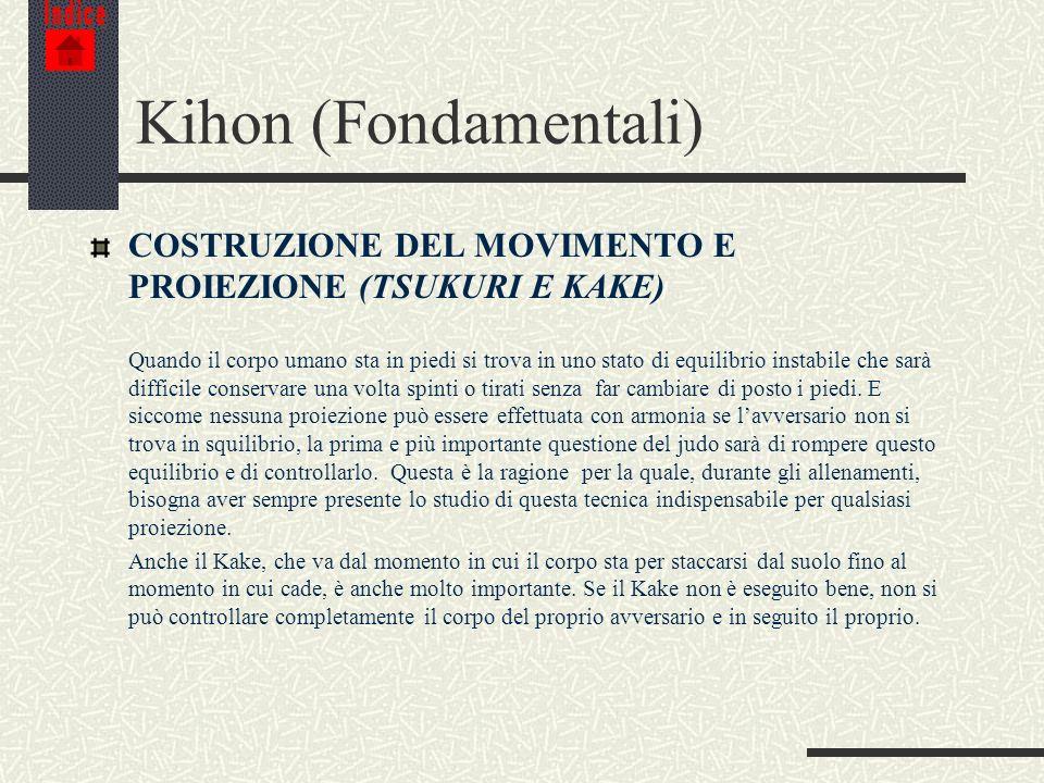 Indice Kihon (Fondamentali) COSTRUZIONE DEL MOVIMENTO E PROIEZIONE (TSUKURI E KAKE)
