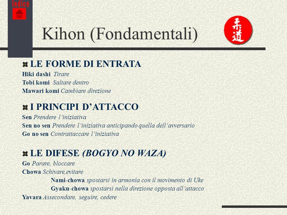 Kihon (Fondamentali) LE FORME DI ENTRATA I PRINCIPI D'ATTACCO