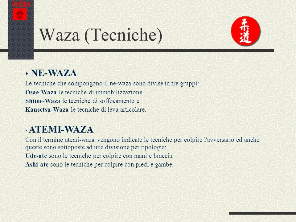 Waza (Tecniche) NE-WAZA