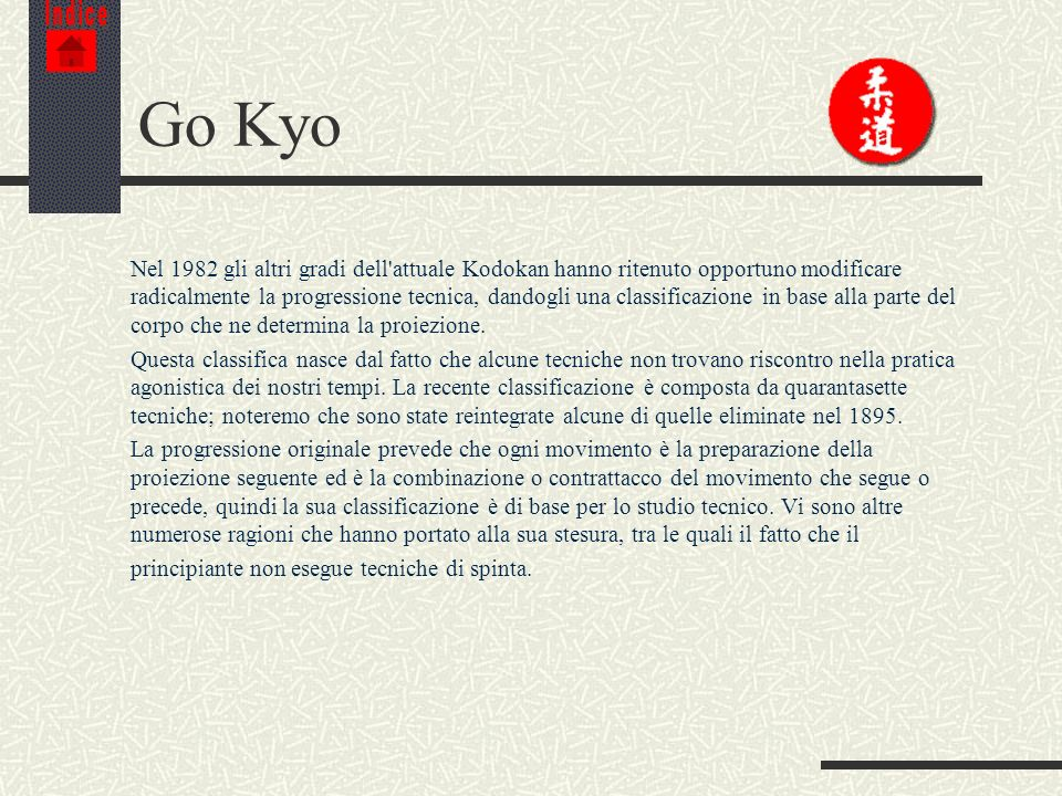 Indice Go Kyo.