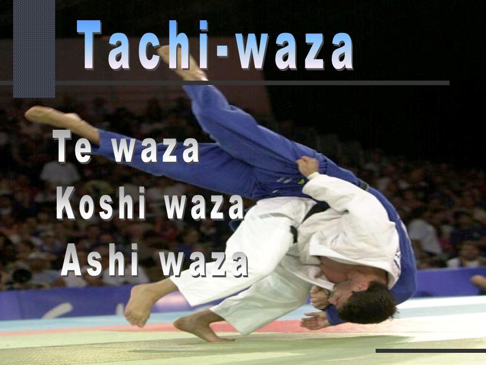 Tachi-waza Te waza Koshi waza Ashi waza