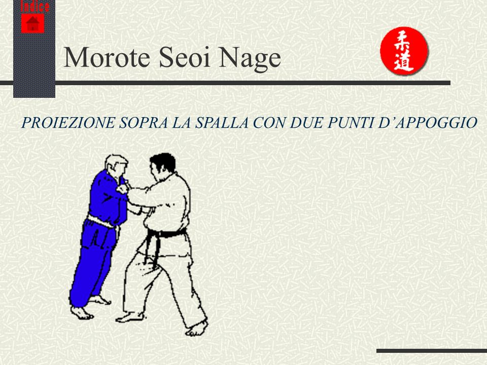 Morote Seoi Nage PROIEZIONE SOPRA LA SPALLA CON DUE PUNTI D'APPOGGIO