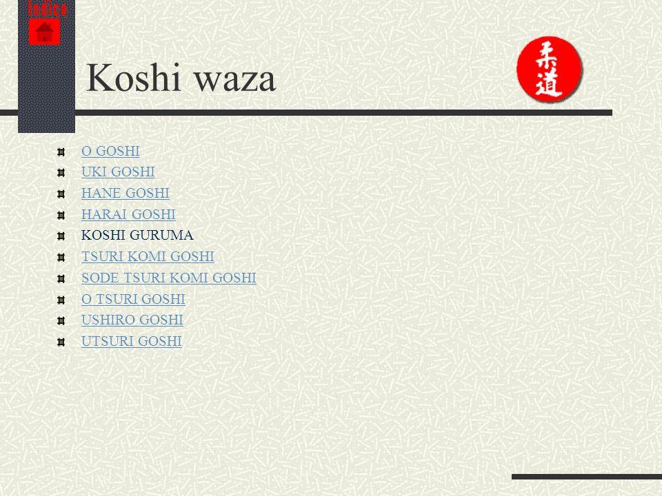 Koshi waza O GOSHI UKI GOSHI HANE GOSHI HARAI GOSHI KOSHI GURUMA