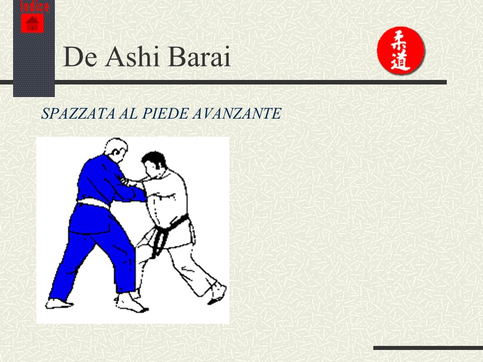 Indice De Ashi Barai SPAZZATA AL PIEDE AVANZANTE