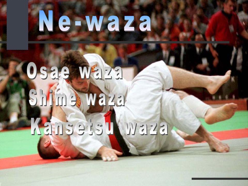 Ne-waza Osae waza Shime waza Kansetsu waza