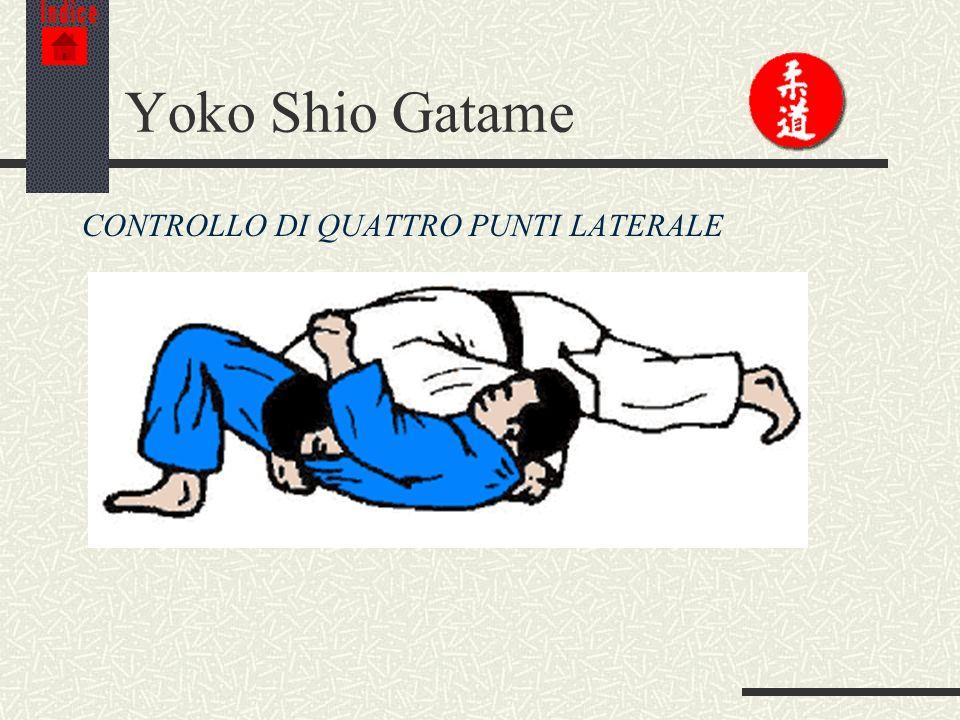 Indice Yoko Shio Gatame CONTROLLO DI QUATTRO PUNTI LATERALE