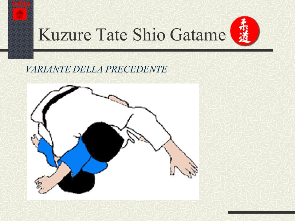 Kuzure Tate Shio Gatame