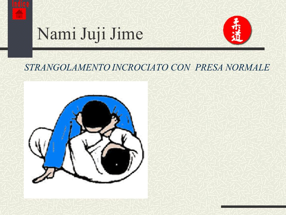 Indice Nami Juji Jime STRANGOLAMENTO INCROCIATO CON PRESA NORMALE
