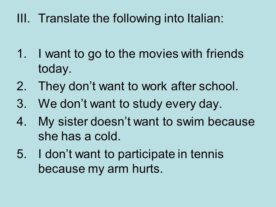 Translations Into Italian: Gli Sport Sports.