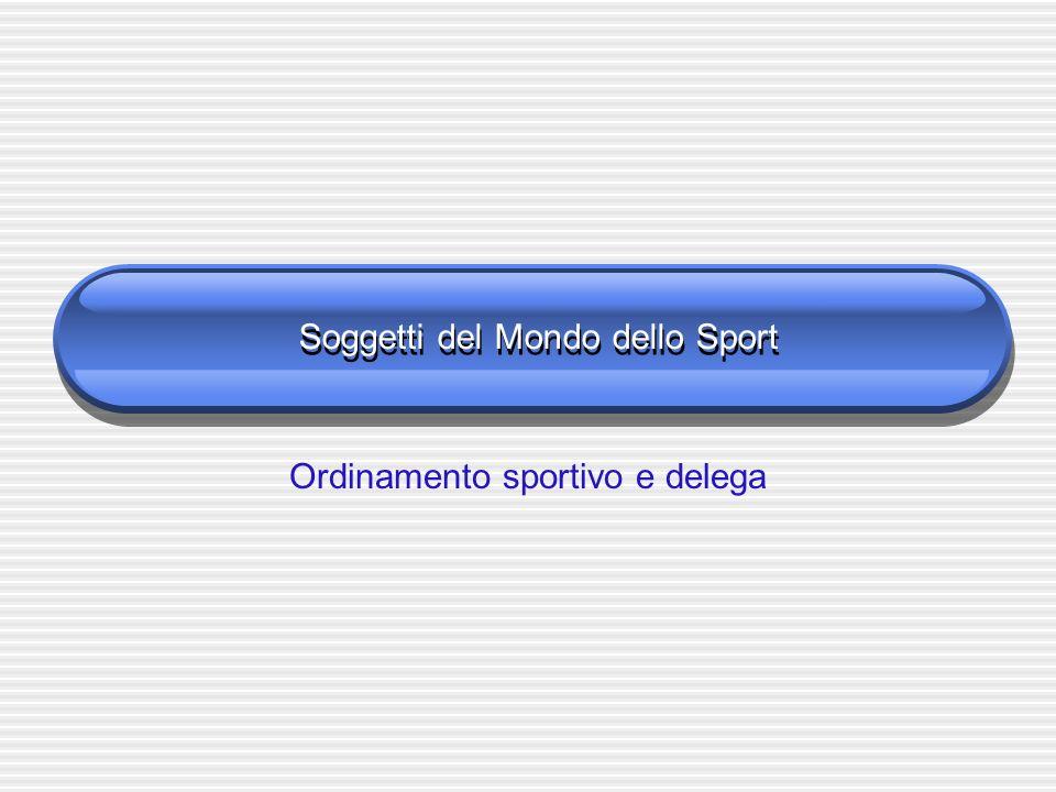 Soggetti del Mondo dello Sport