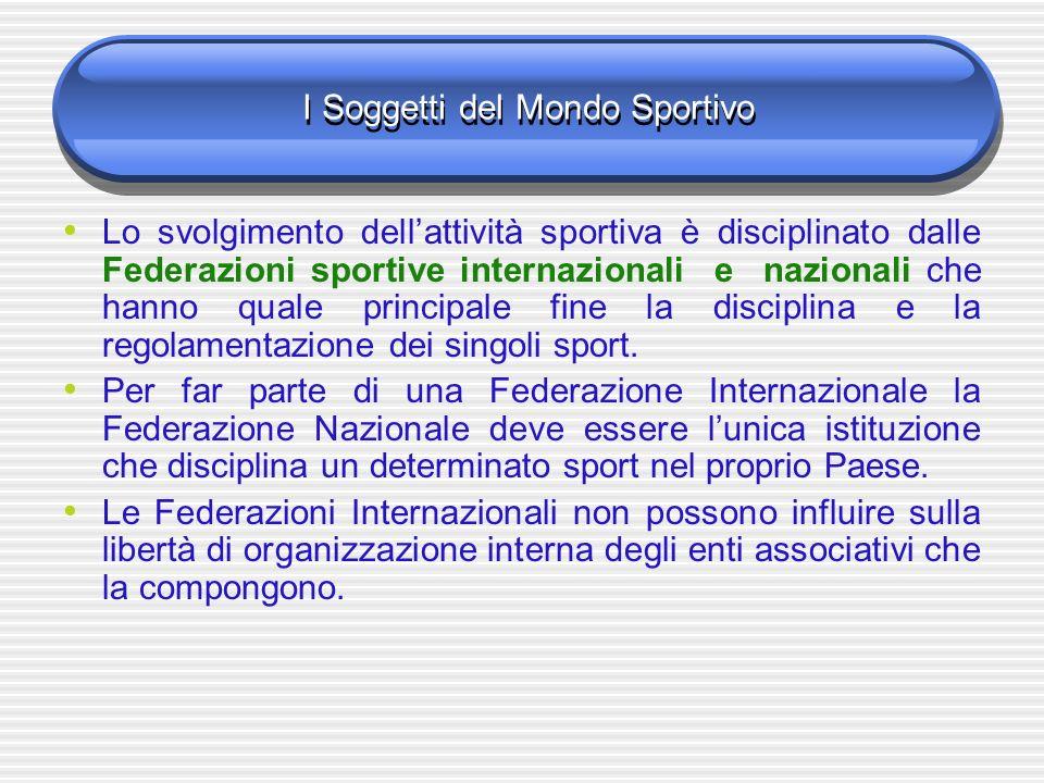 I Soggetti del Mondo Sportivo