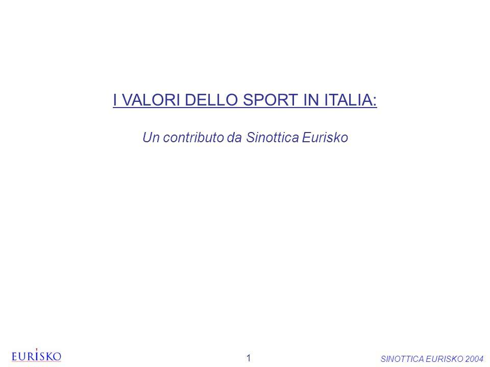 I VALORI DELLO SPORT IN ITALIA: