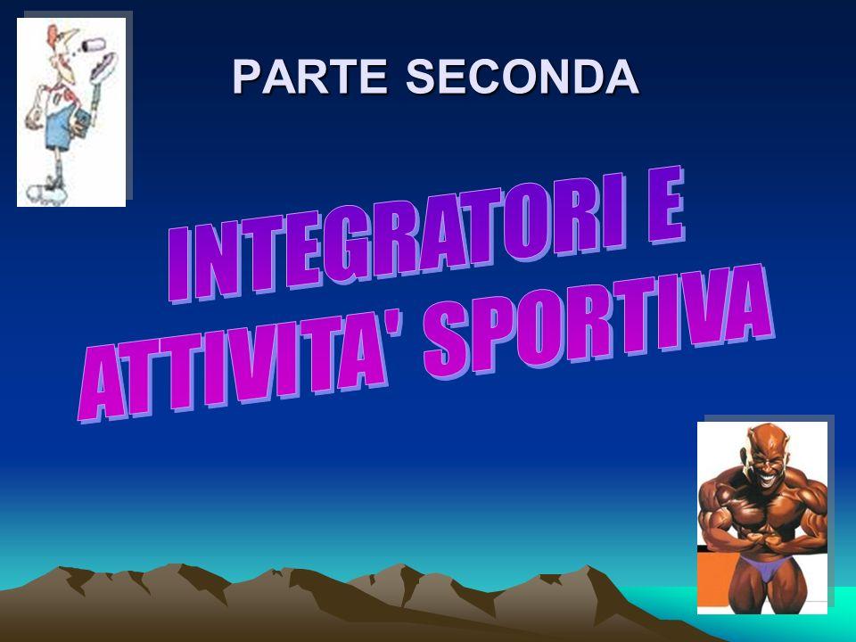 PARTE SECONDA INTEGRATORI E ATTIVITA SPORTIVA
