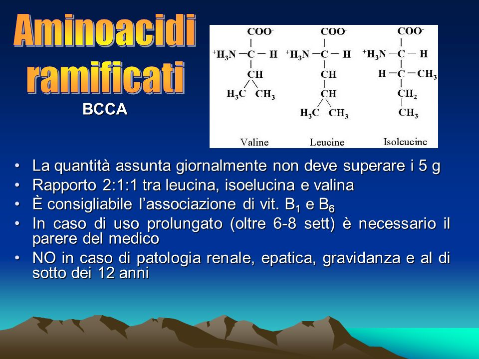 Aminoacidi ramificati BCCA