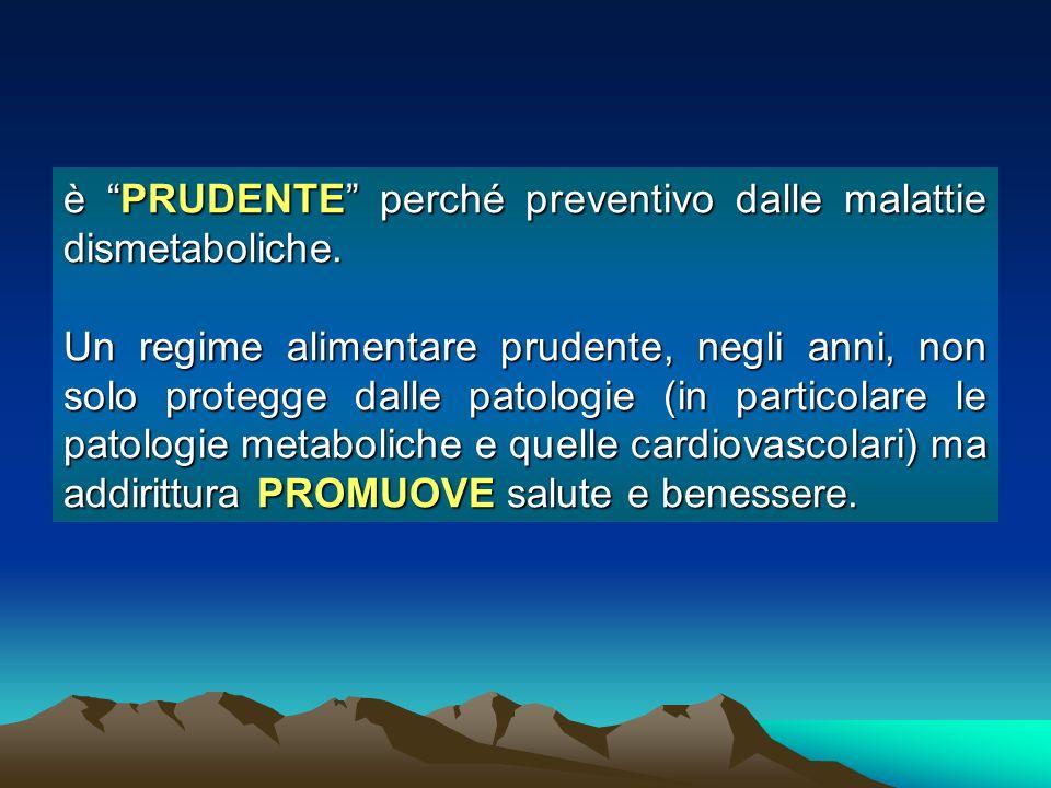 è PRUDENTE perché preventivo dalle malattie dismetaboliche.