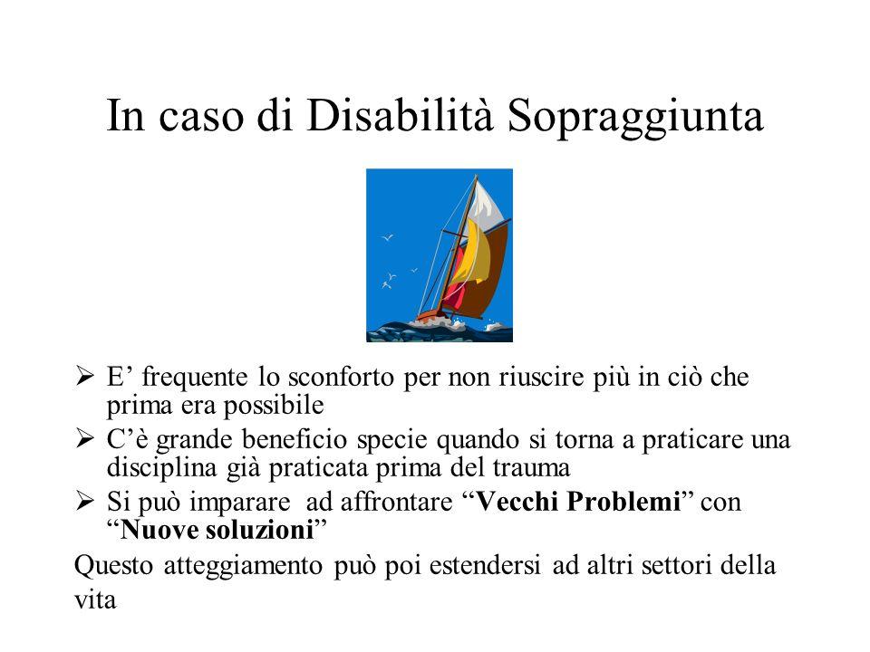 In caso di Disabilità Sopraggiunta