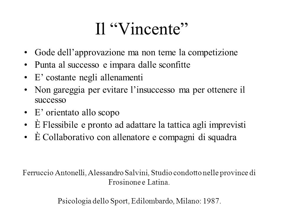 Psicologia dello Sport, Edilombardo, Milano: 1987.