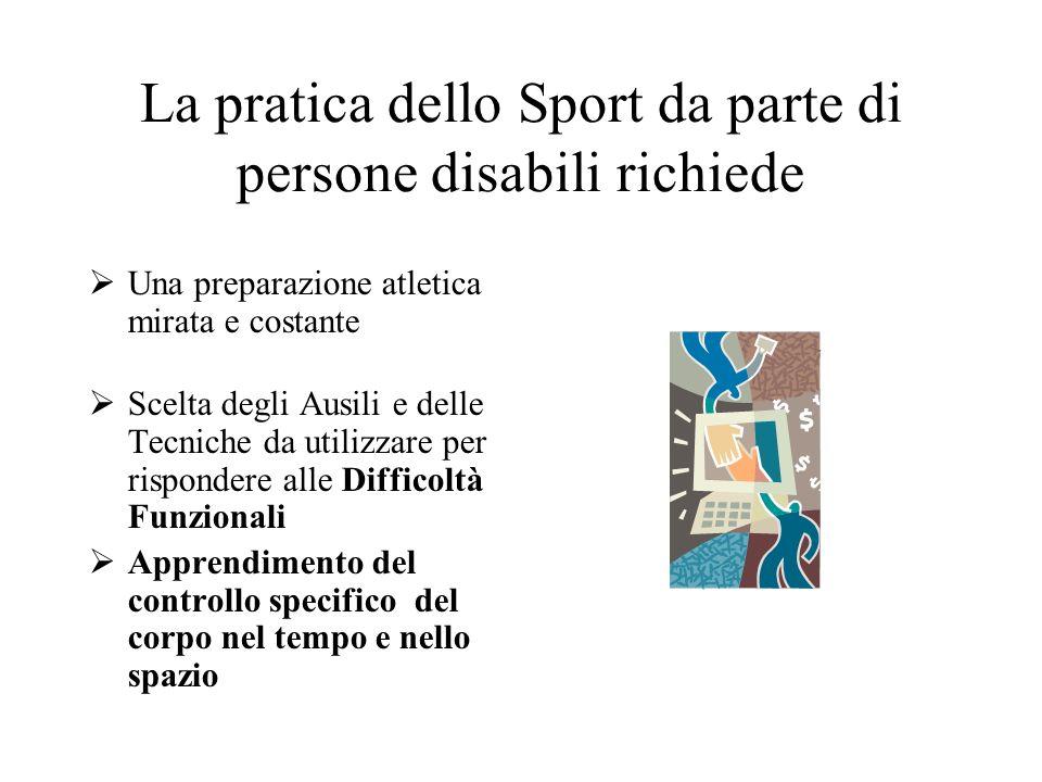 La pratica dello Sport da parte di persone disabili richiede