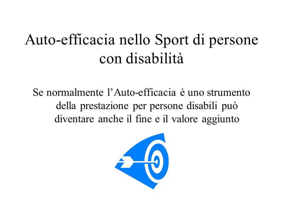 Auto-efficacia nello Sport di persone con disabilità