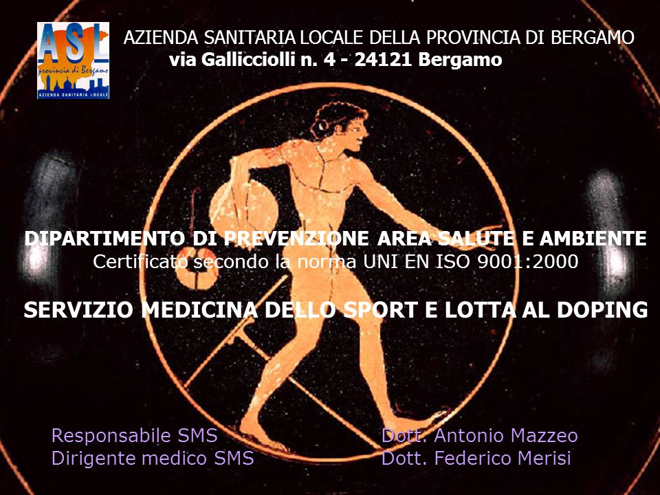 SERVIZIO MEDICINA DELLO SPORT E LOTTA AL DOPING