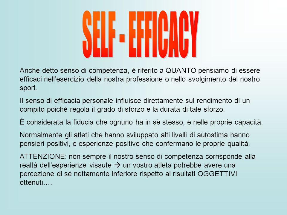 SELF - EFFICACY