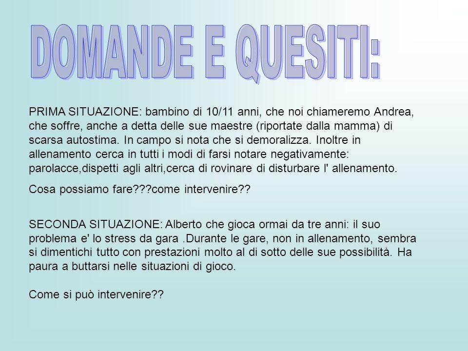 DOMANDE E QUESITI: