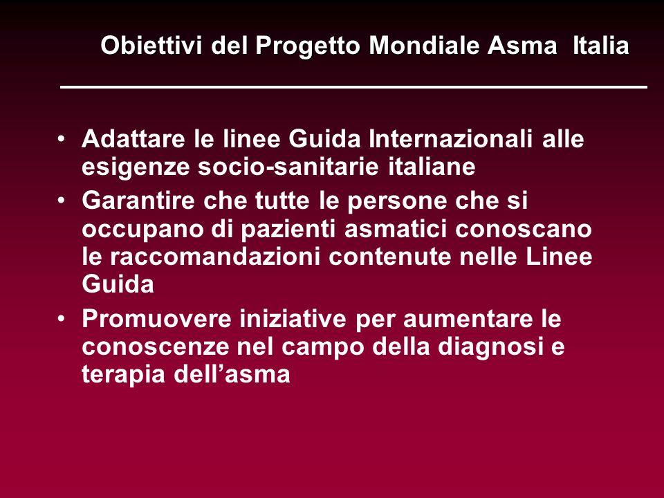 Obiettivi del Progetto Mondiale Asma Italia