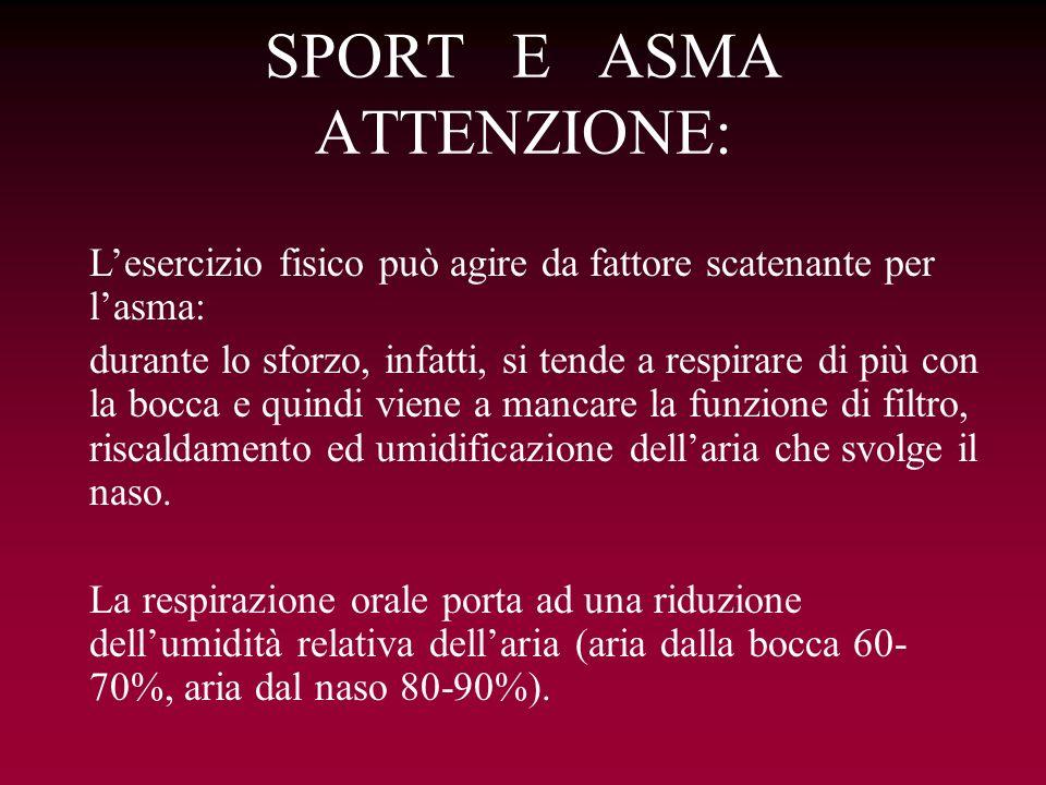 SPORT E ASMA ATTENZIONE: