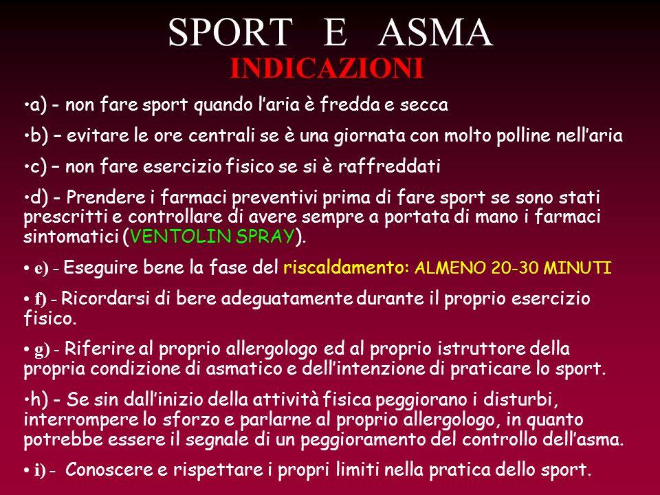 SPORT E ASMA INDICAZIONI