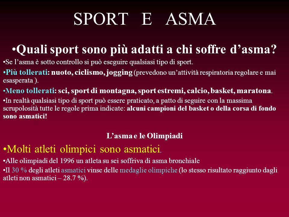 Quali sport sono più adatti a chi soffre d'asma