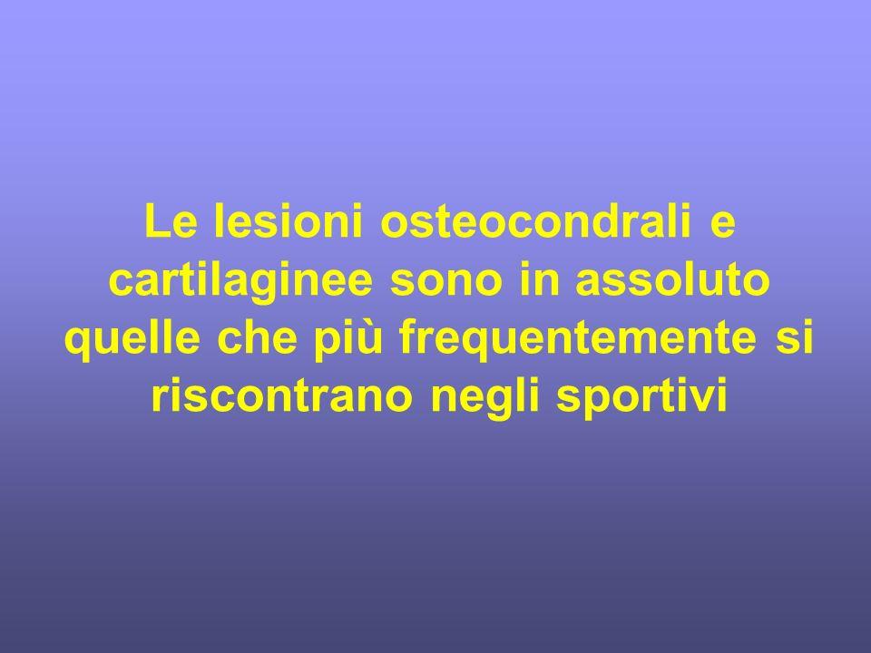 Le lesioni osteocondrali e cartilaginee sono in assoluto quelle che più frequentemente si riscontrano negli sportivi