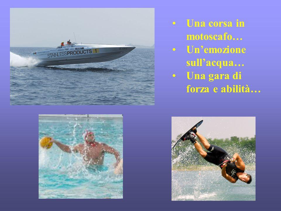 Una corsa in motoscafo… Un'emozione sull'acqua…