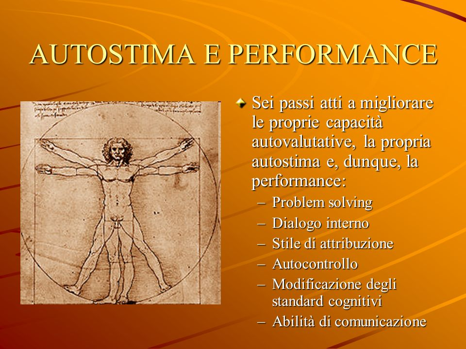 AUTOSTIMA E PERFORMANCE