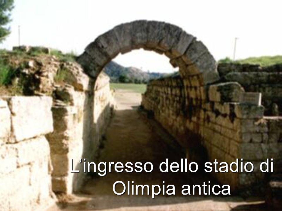 L'ingresso dello stadio di Olimpia antica