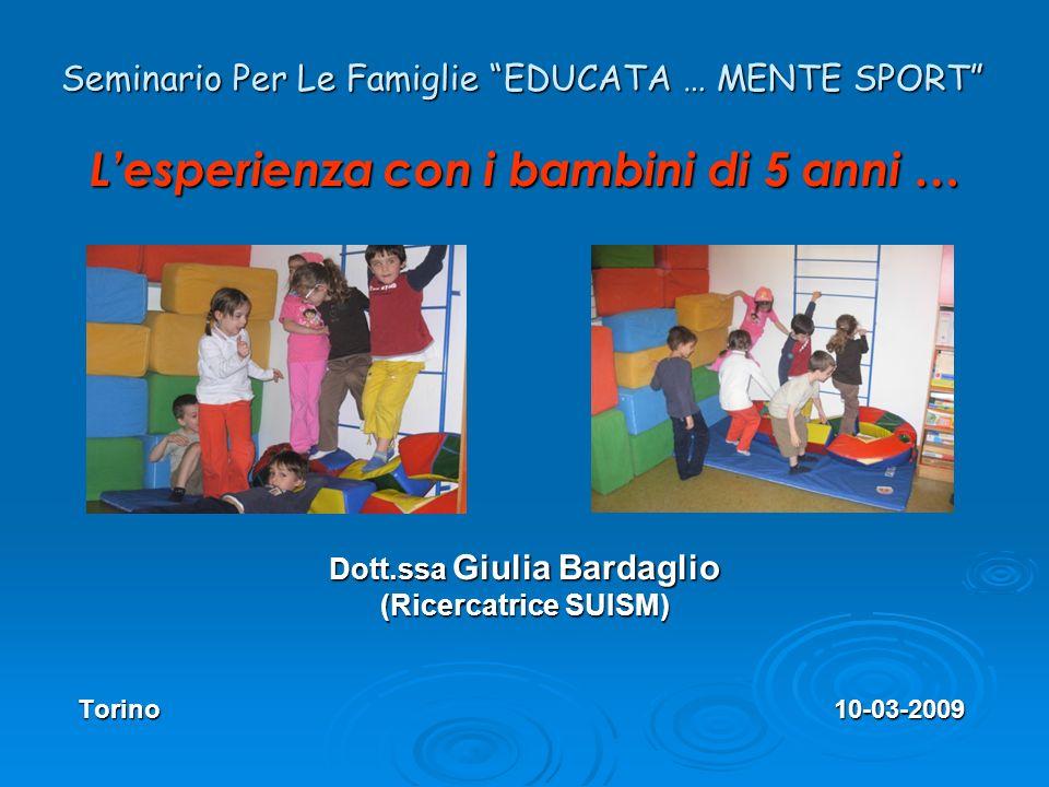 Seminario Per Le Famiglie EDUCATA … MENTE SPORT