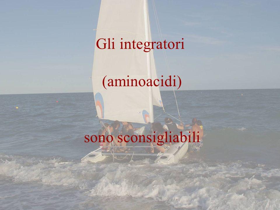Gli integratori (aminoacidi) sono sconsigliabili