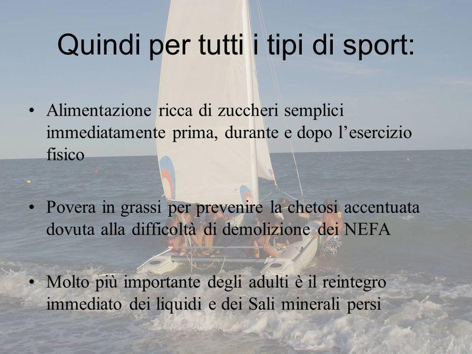 Quindi per tutti i tipi di sport: