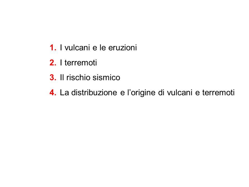 1. I vulcani e le eruzioni 2. I terremoti 3. Il rischio sismico 4