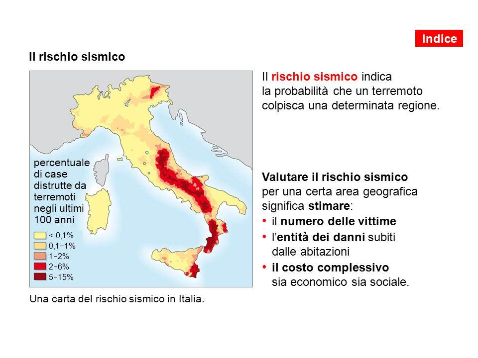 Indice Il rischio sismico